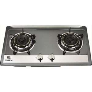 Mikachi Stainless Double Gas Stove Black